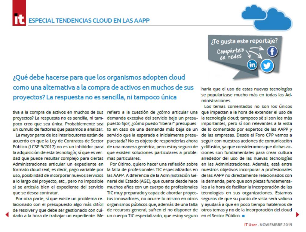 Cloud en las administraciones